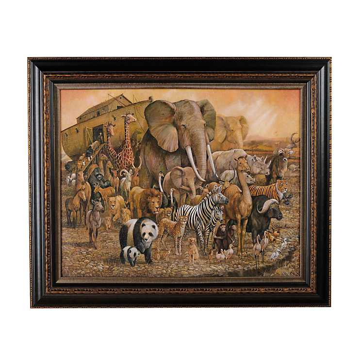 Noah S Ark Bronze Framed Print Kirklands