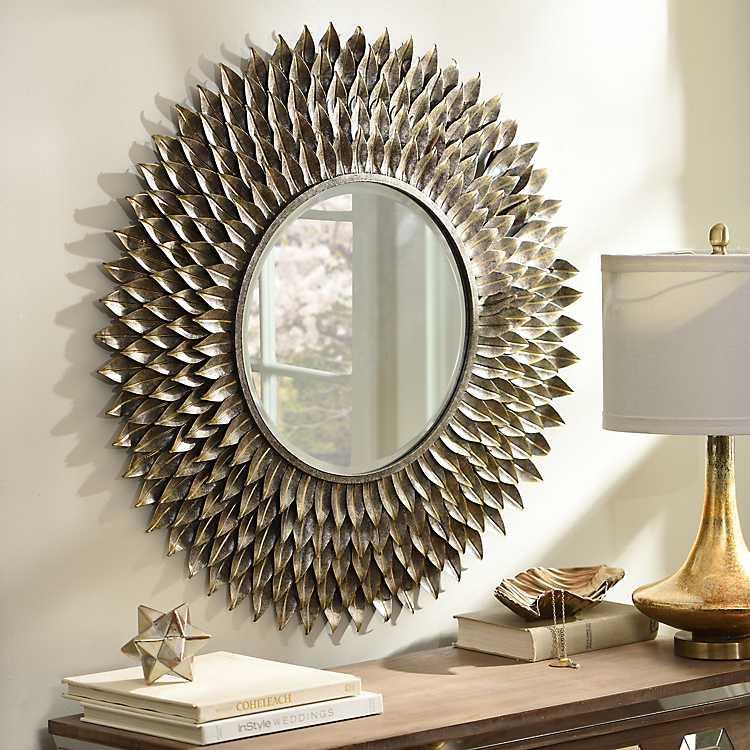 Flower Mirror Wall Decor Paulbabbitt Com
