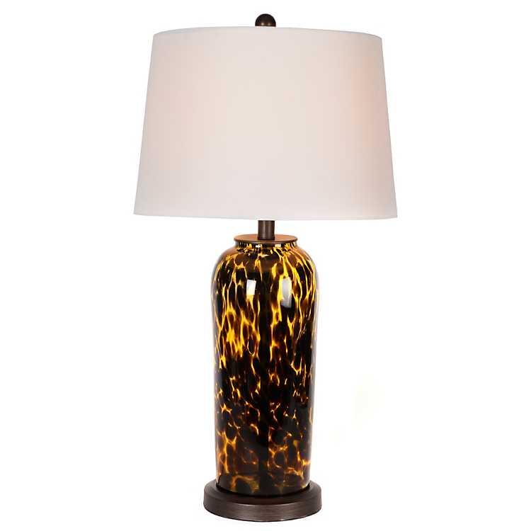 Tortoise Glass Table Lamp Kirklands