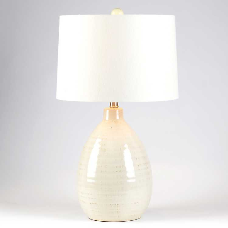 Gie Ivory Ceramic Table Lamp, Ivory Ceramic Table Lamps