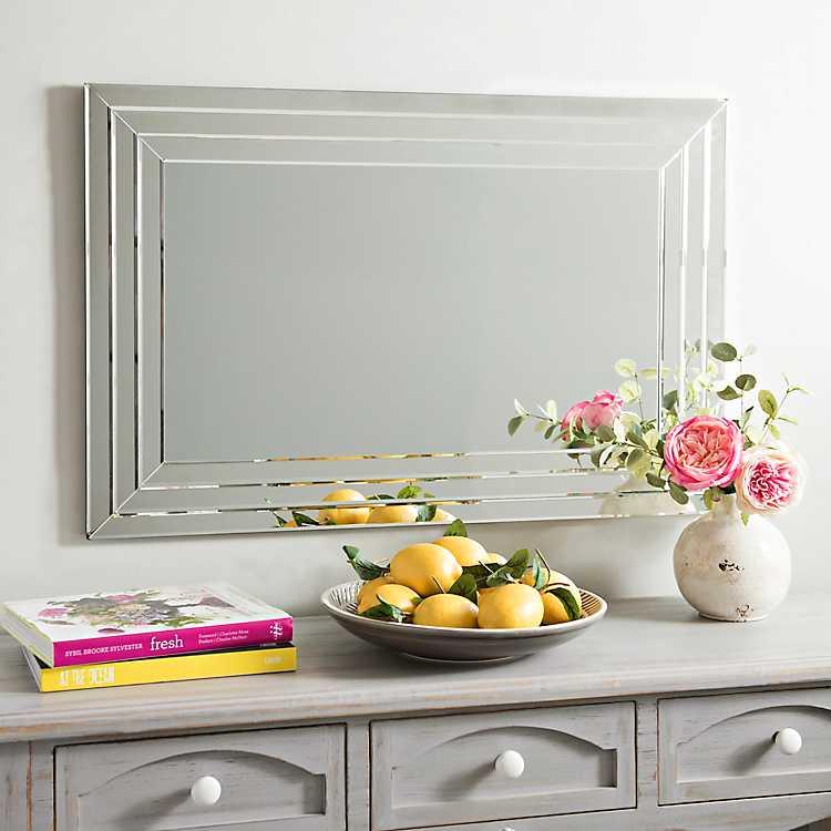 Infinity Frameless Wall Mirror 24x36 In Kirklands