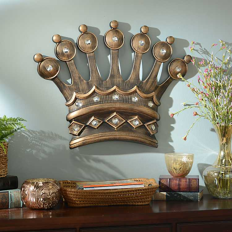 His Crown Gold Jeweled Wall Plaque