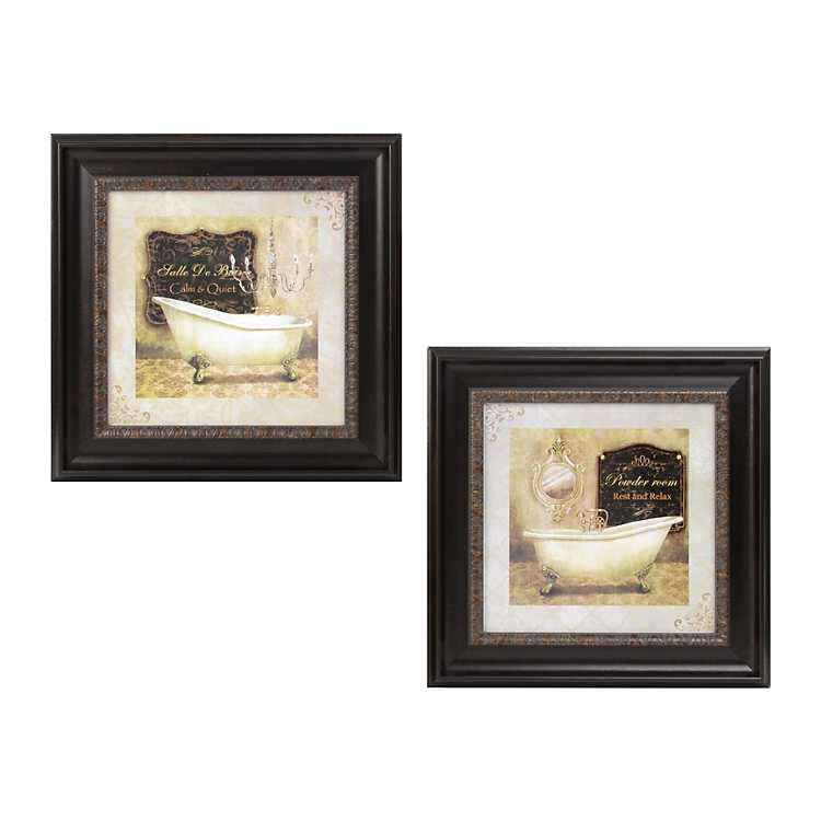 French Bath Framed Art Prints Kirklands