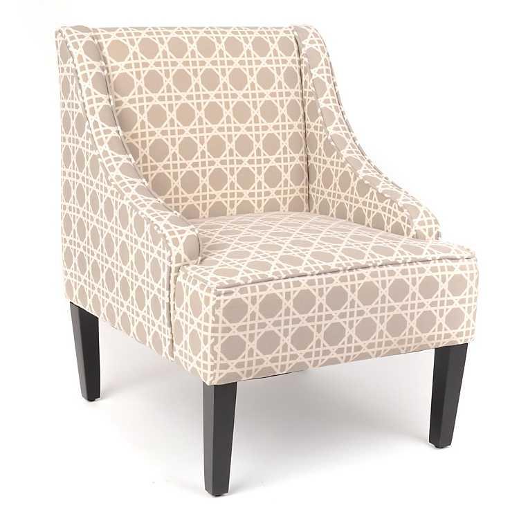 Williamsburg Trellis Print Chair, Chair And Trellis