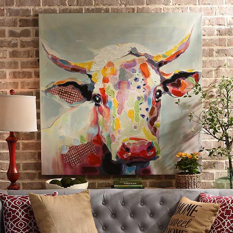 Betsy Cow Canvas Art Print 50x50 Kirklands