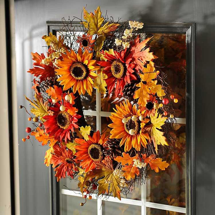 Autumn Sunflower Wreath Kirklands