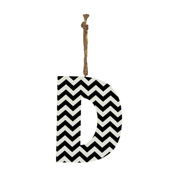 Black Chevron Monogram D Hanging Letter Kirklands