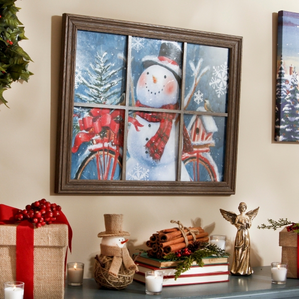 Happy Snowman Framed Art Print Kirklands
