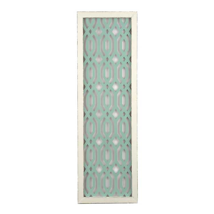 Turquoise Large Lattice Design Decorative Outlet Plate Cover