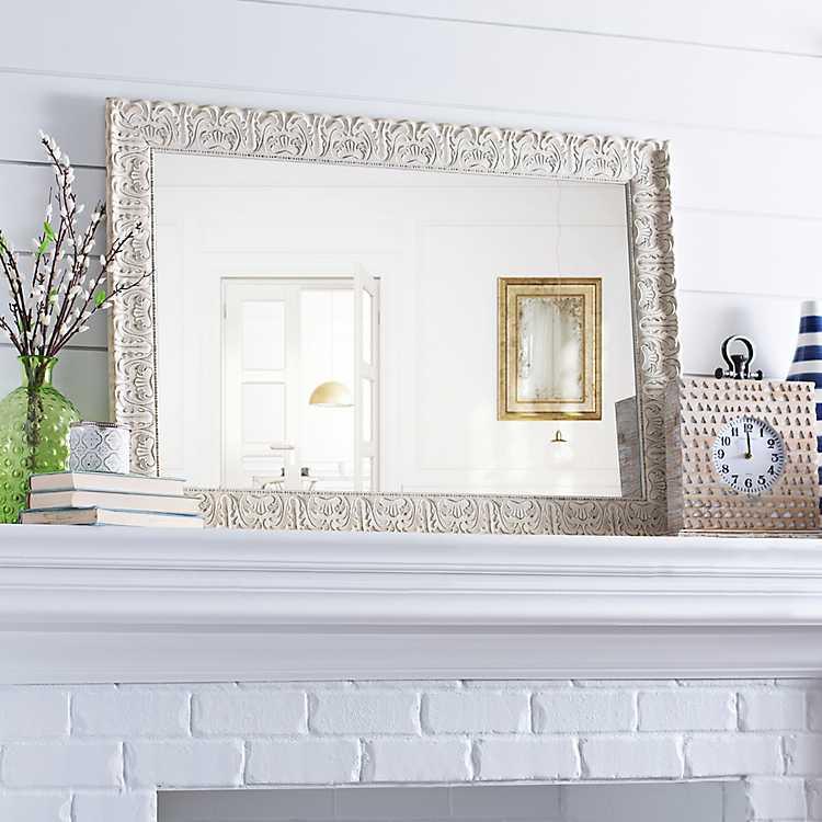 Ornate Ivory Framed Mirror 30 5x42 5 In Kirklands