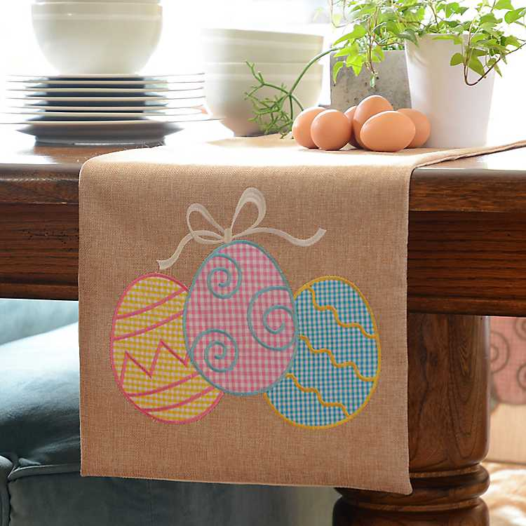 Easter Egg Burlap Table Runner Kirklands