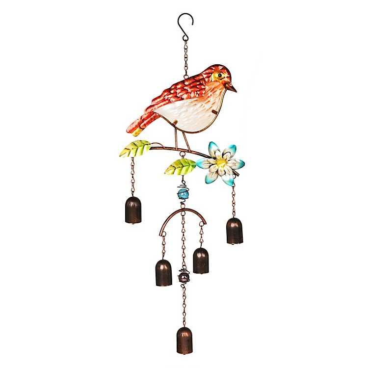 Gl Red Bird Wind Chime Kirklands
