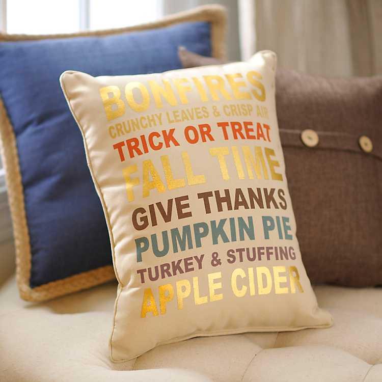 Fall Favorites Accent Pillow Kirklands