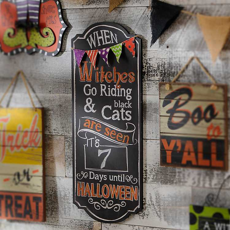Halloween decor Halloween sign Halloween Countdown sign