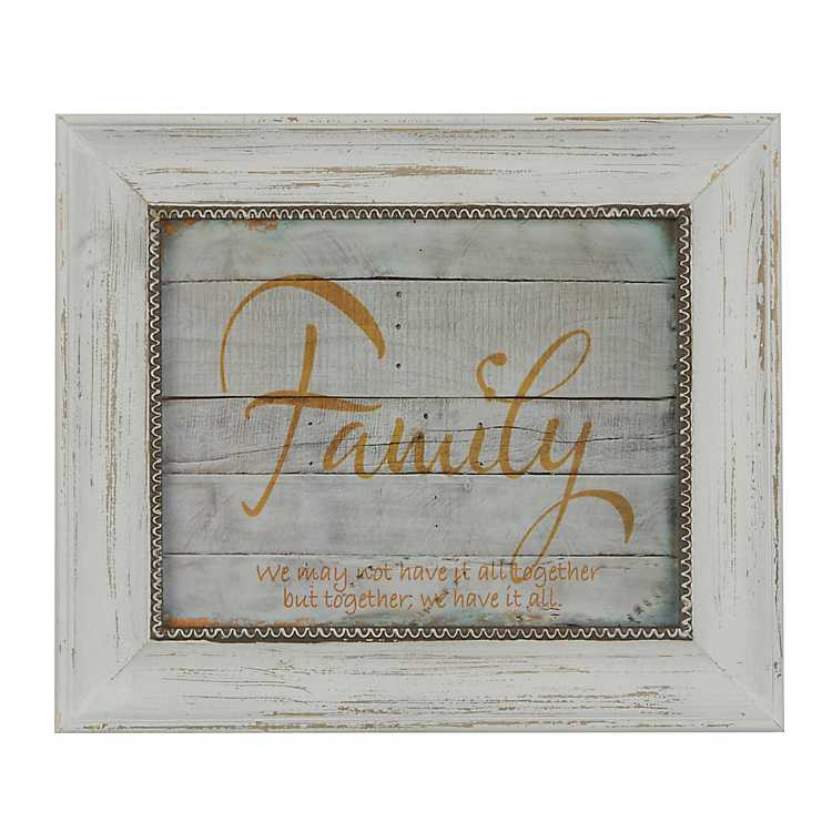 Family Wood Plank Framed Art Print Kirklands