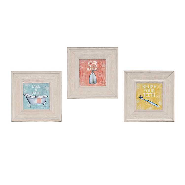 Vintage Bathroom Framed Art Prints Set Of 3 Kirklands
