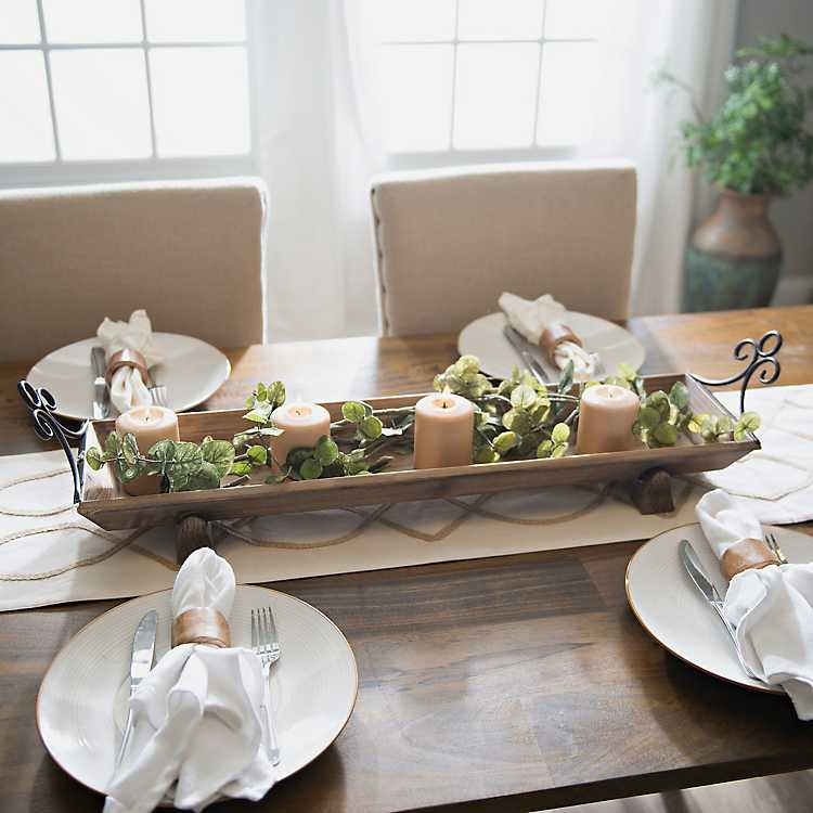 Rustic Wood Runner Tray Kirklands