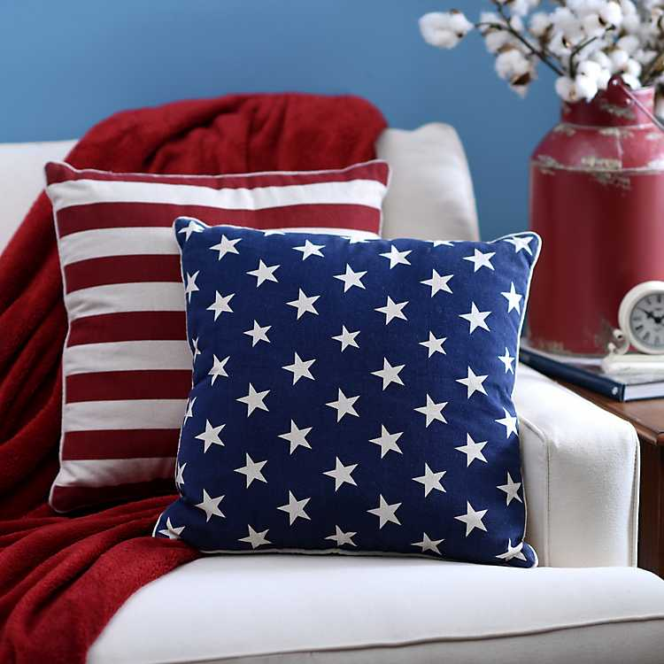 Stars And Stripes Pillows Set Of 2 Kirklands