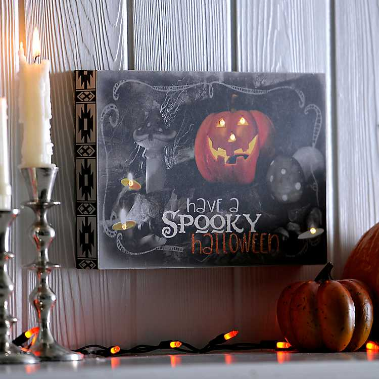 Halloween Forum 2020 Kirklands Spooky Halloween Spooky Block LED Wall Plaque | Kirklands