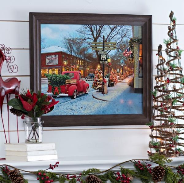 Route 66 Christmas Framed Art Print Kirklands