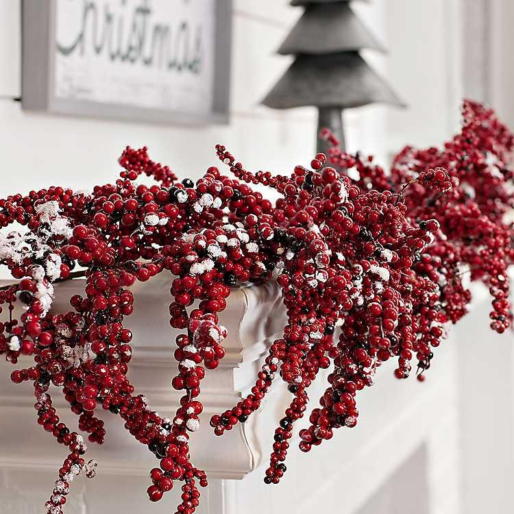 Red Snow Berry Garland Kirklands