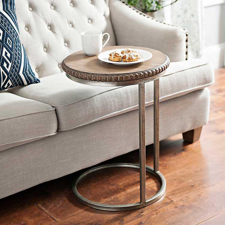 Beaded Round Wood C Table Kirklands, Round C Table