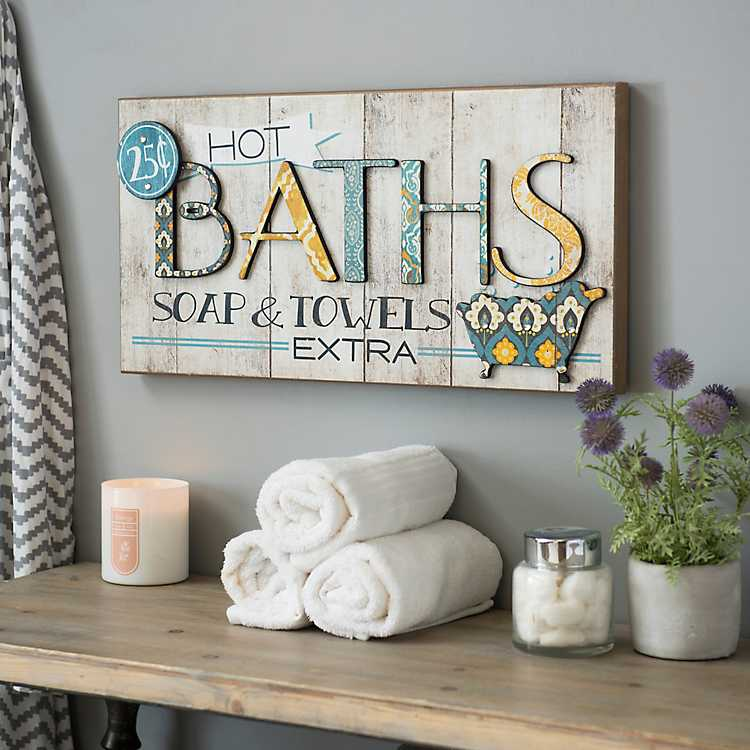 Hot Bath Patchwork Wall Plaque Kirklands