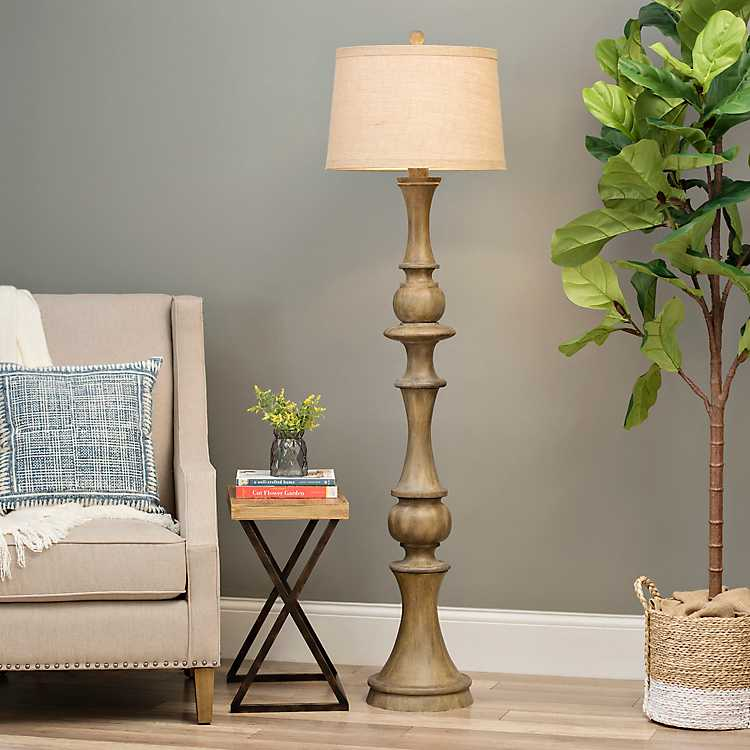 Woodgrain Laney Floor Lamp Kirklands