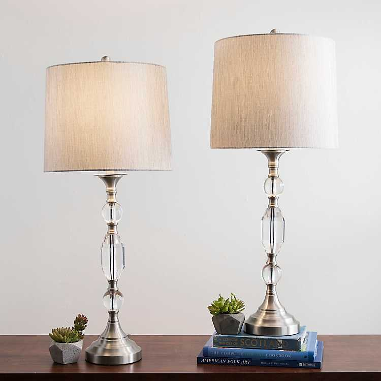 Silver Crystal Table Lamp Set Of 2 Kirklands
