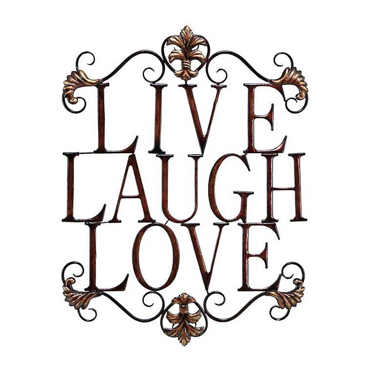 LIVE LAUGH LOVE new decor mug in distressed Tin