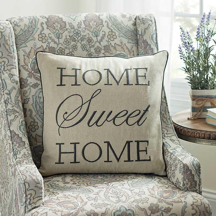 Gray Home Sweet Pillow Kirklands