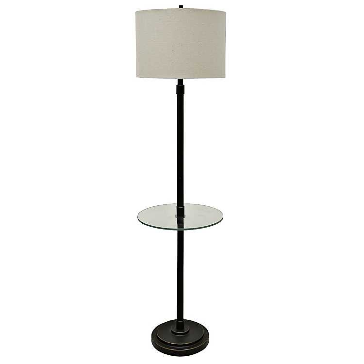 Bronze Madison Tray Table Floor Lamp