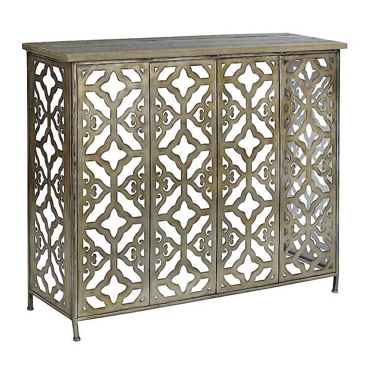 Aria Wood And Metal Console Table Kirklands