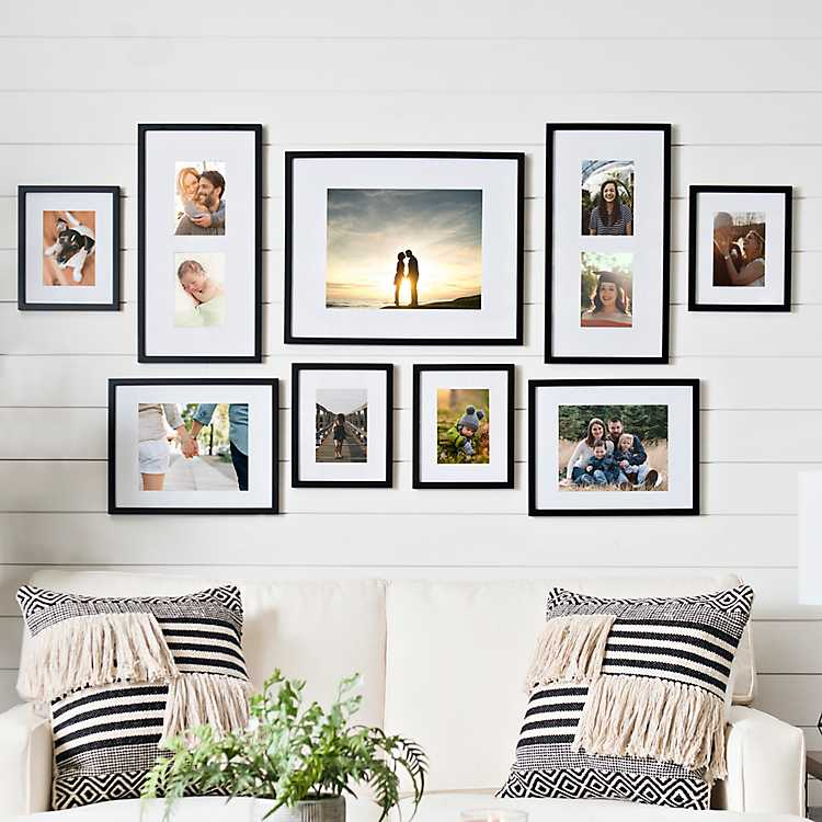 Black 9 Pc Matted Gallery Wall Photo Frame Set Kirklands