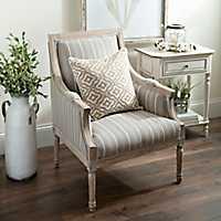 McKenna Taupe Stripe Accent Chair