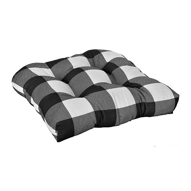 White Buffalo Check Outdoor Cushions