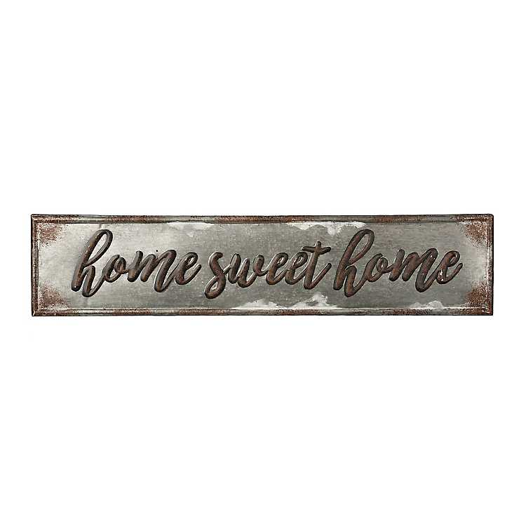 Home Sweet Home Galvanized Metal Wall Plaque Kirklands