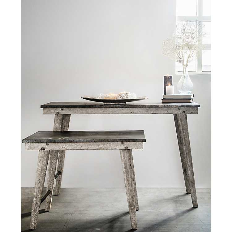Small Metal Top Farmhouse Table Kirklands