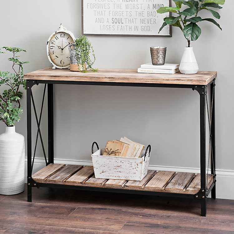 Heather Wood Pallet Console Table | Kirklands