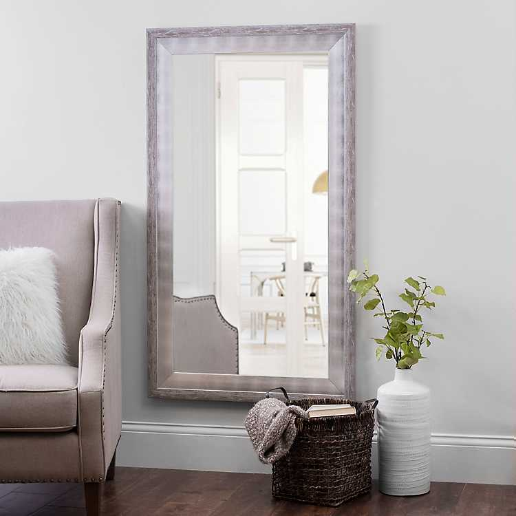 White And Silver Foil Wall Mirror 31 5x55 5 In Kirklands