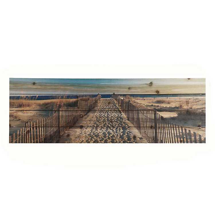 Walk To The Beach Wood Art Print Kirklands