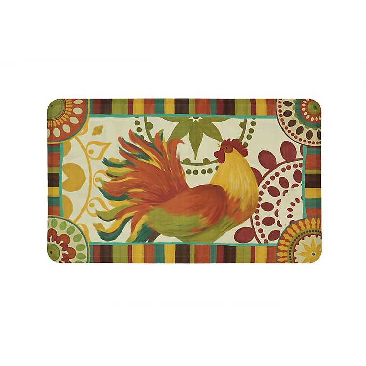Painted Spice Rooster Kitchen Mat Kirklands