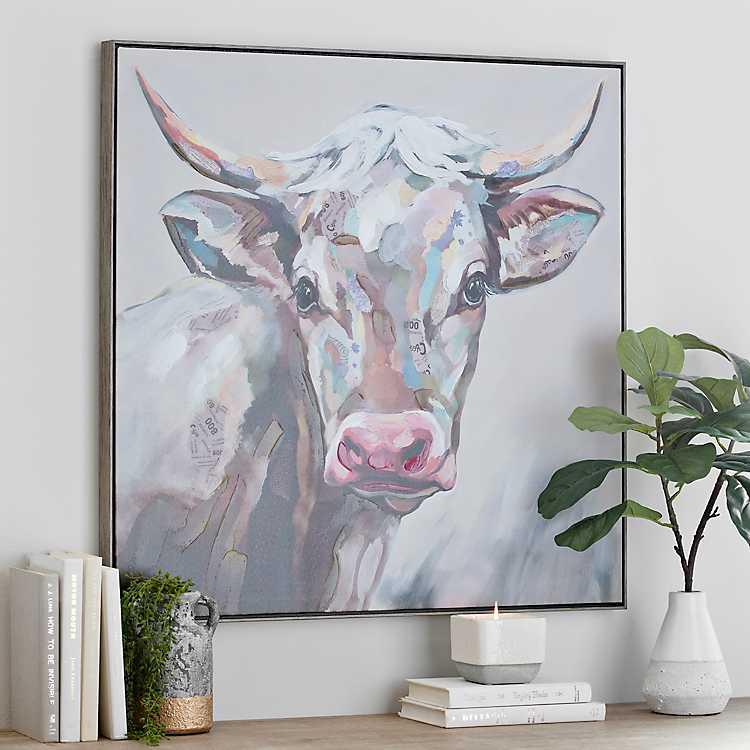 Cow Framed Canvas Art Print Kirklands