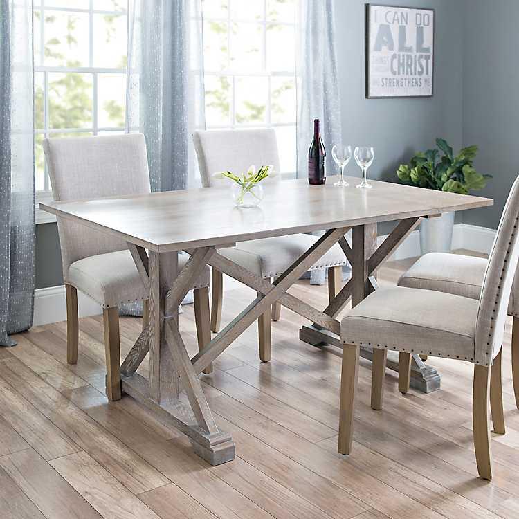 Annalise Distressed Gray Oak Dining