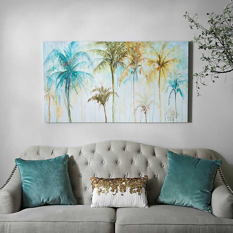 Watercolor Palm Trees Canvas Art Print Kirklands