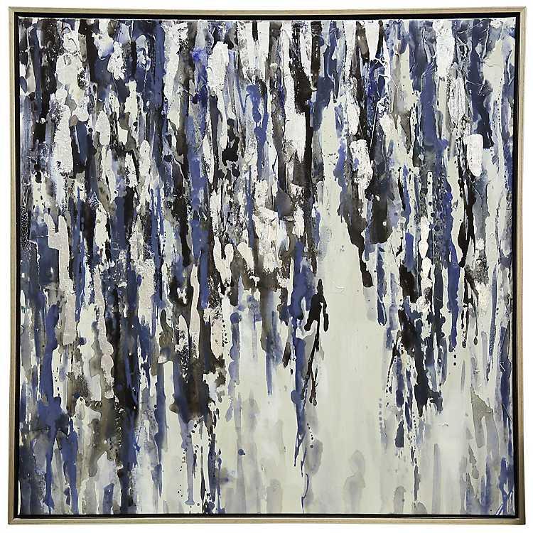 Abstract Rain Framed Canvas Art Print Kirklands