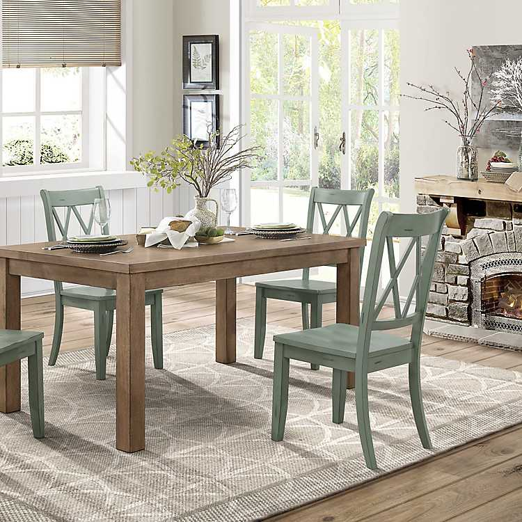Country Teal Criss Cross Dining Chairs Set Of 2 Kirklands