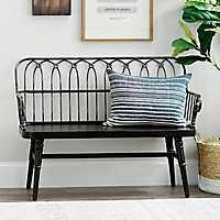 Black Wooden Bench