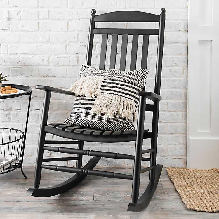 Black Wood Rocking Chair Kirklands, Wood Rocking Chair Outdoor Black
