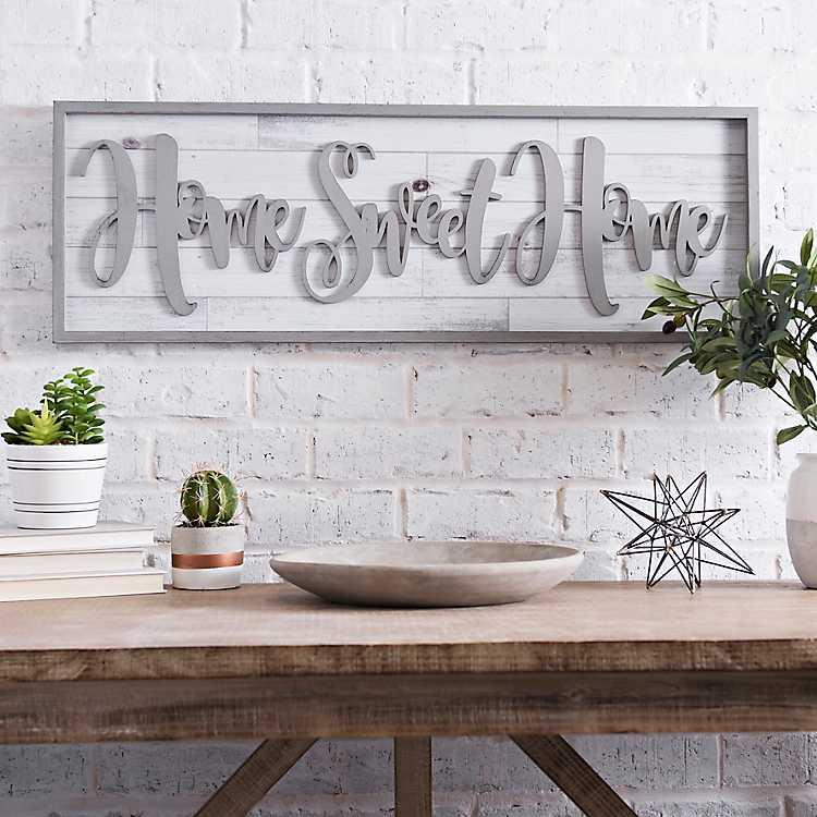 Home Sweet Home Framed Shiplap Wall Plaque Kirklands